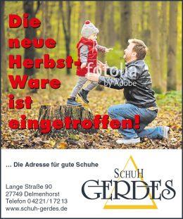 aktionen schuhhaus gerdes in delmenhorst. Black Bedroom Furniture Sets. Home Design Ideas